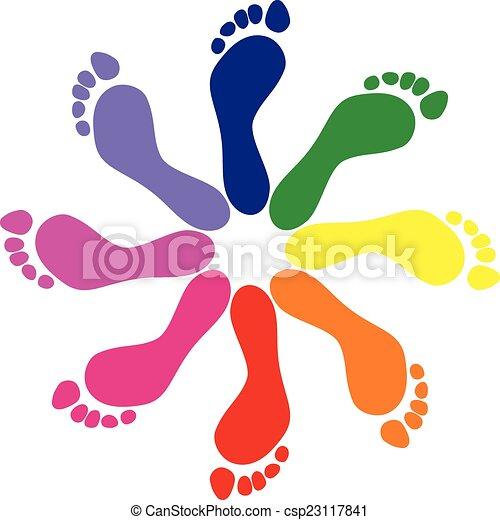 Footprints - csp23117841
