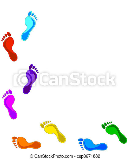 colorful footprints design elements vector illustration rh canstockphoto com footsteps clip art free footsteps clipart black and white