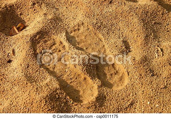 Footprints in sand - csp0011175