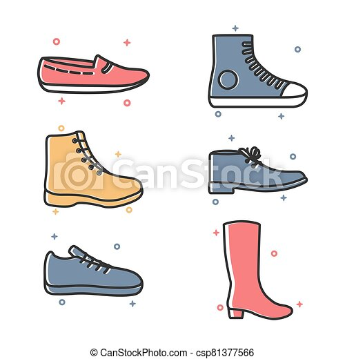 Footwear Shoes Fashion Icon Style - csp81377566