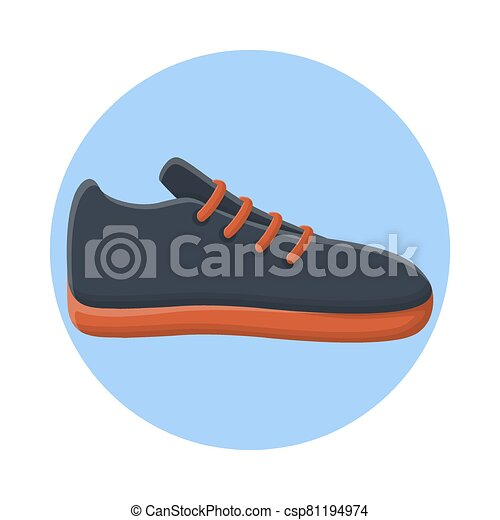 Footwear Sport Shoes Fashion Style. Flat Icon Vector Design - csp81194974