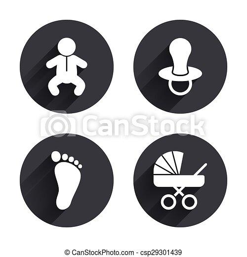 Fop Symbols Buggy Icons Baby Zuigelingen Baby Vectors