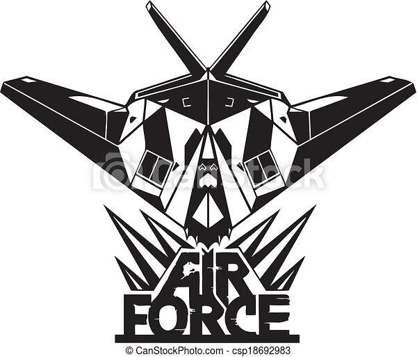 força, -, nós, ar, militar, design. - csp18692983