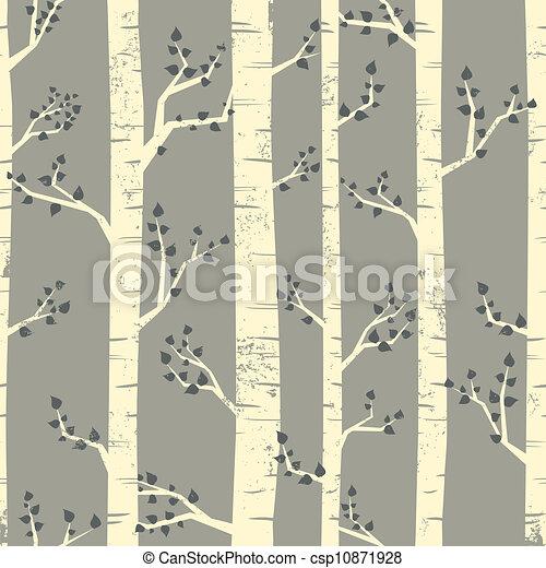 forêt, fond, bouleau - csp10871928