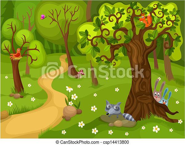 forêt, fond - csp14413800
