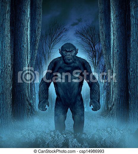 forêt, monstre - csp14986993