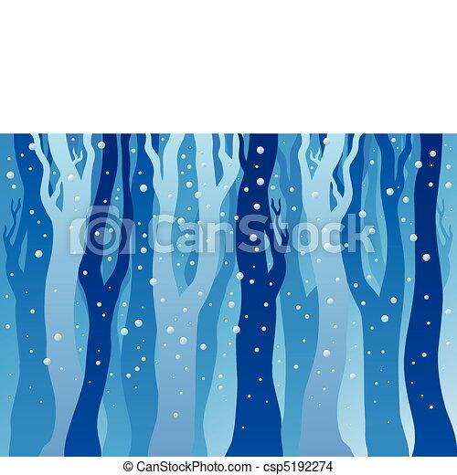 forêt, neige, hiver - csp5192274
