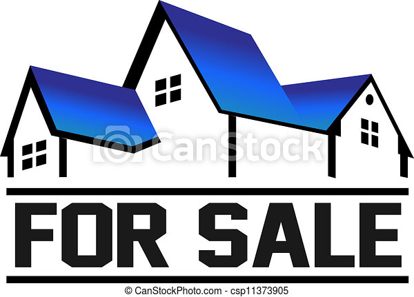 for sale house group of houses in perspective with sign vector rh canstockphoto com isometric house vector free house vector free eps
