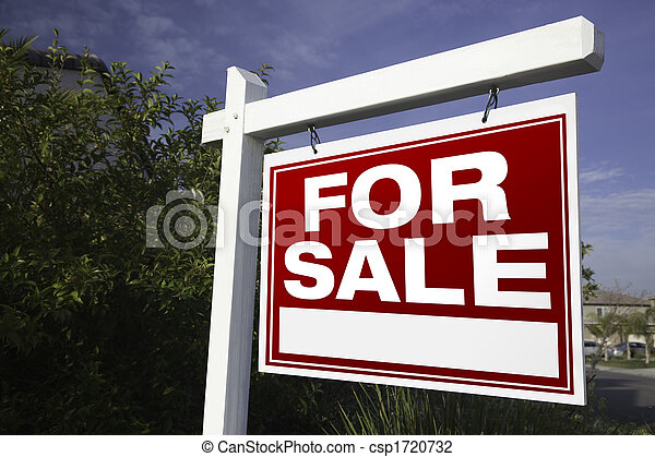 For Sale Real Estate Sign - csp1720732