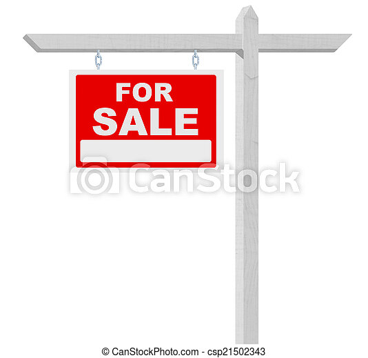 For Sale Real Estate Sign - csp21502343