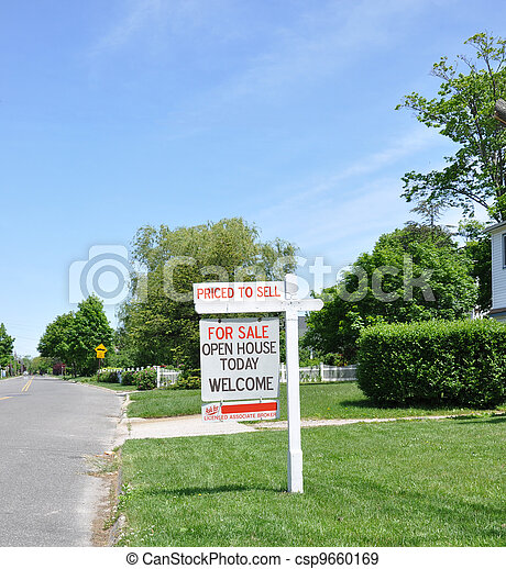 For Sale Real Estate Sign - csp9660169