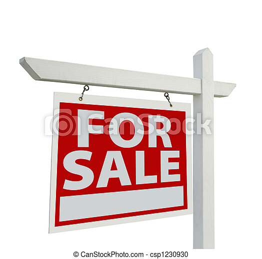 For Sale Real Estate Sign - csp1230930