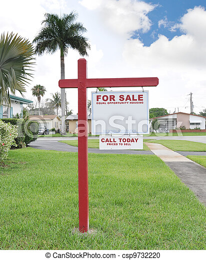 For Sale Real Estate Sign - csp9732220