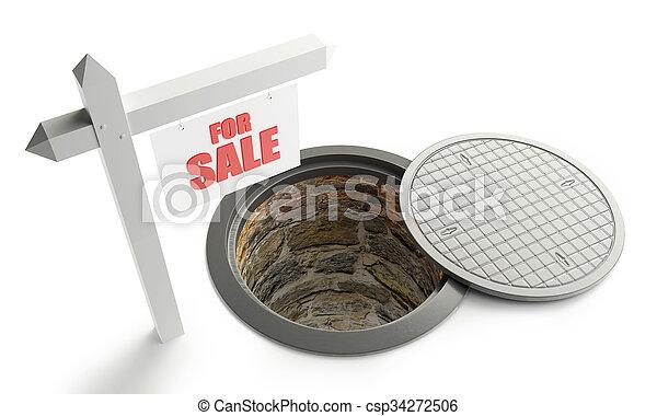 for sale street manhole open - csp34272506