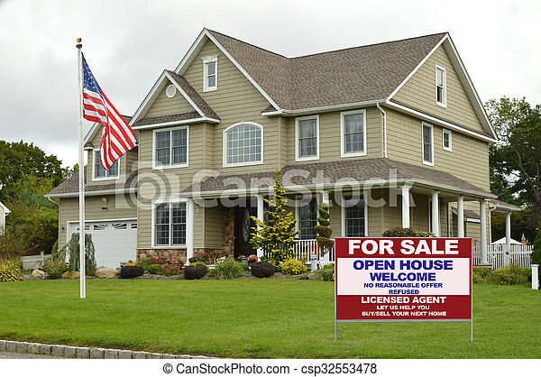 For Sale Suburban Home - csp32553478