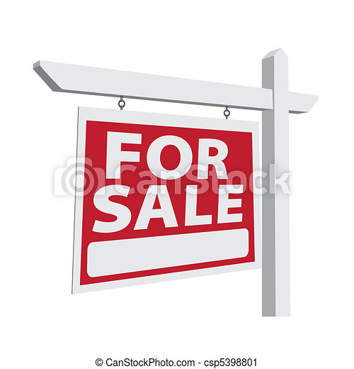 For Sale Vector Real Estate Sign - csp5398801