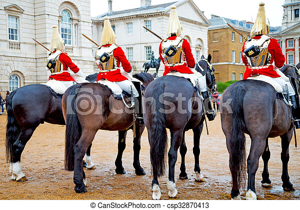 for the queen in london england cavalry - csp32870413