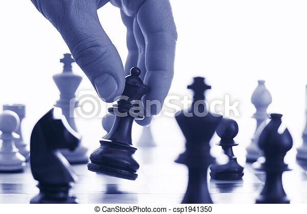 forarbejde, boldspil, flytte, din, chess - csp1941350
