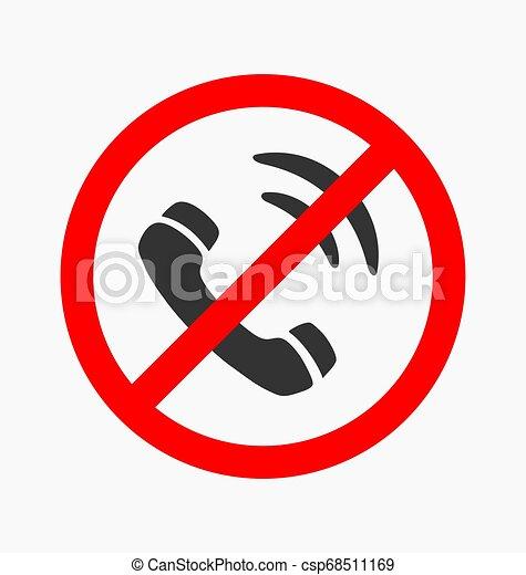 Forbidden call vector icon - csp68511169