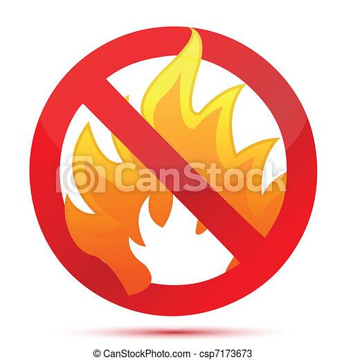 Forbidden Fire illustration design - csp7173673