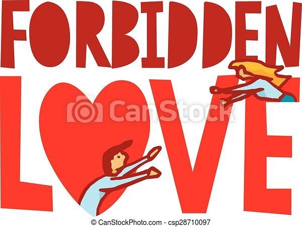Forbidden love between man and woman - csp28710097