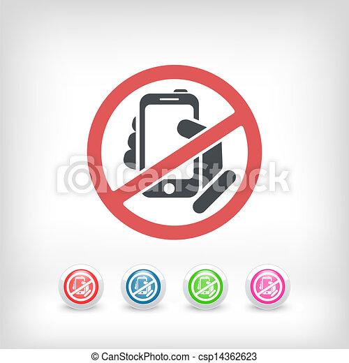 Forbidden phone icon - csp14362623