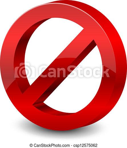 forbidden sign - csp12575062