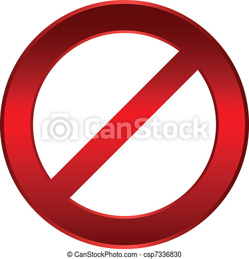 Forbidden sign - csp7336830