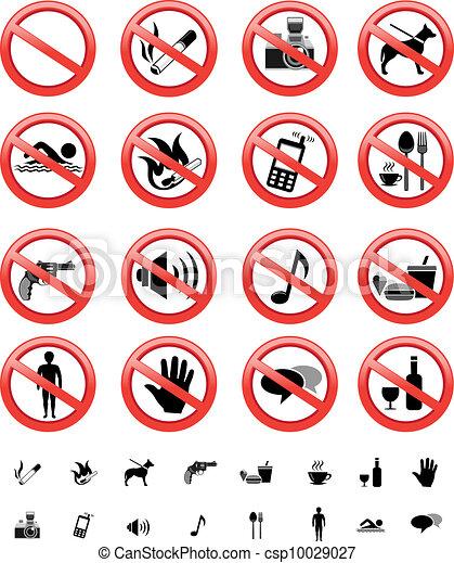 forbidden signs set - csp10029027