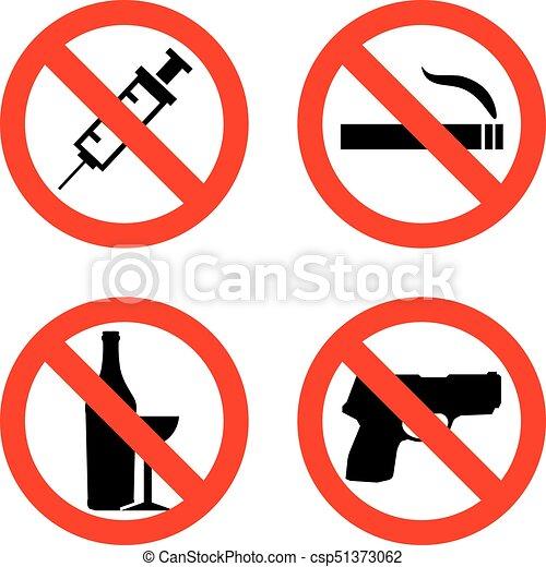 forbidding vector signs no smoking no drugs no weapon clip rh canstockphoto com no smoking vector clipart no smoking logo clipart