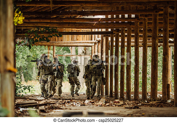 Force Rangers stormed the building - csp25025227