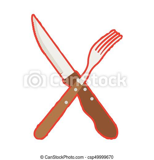 forchetta, coltello - csp49999670