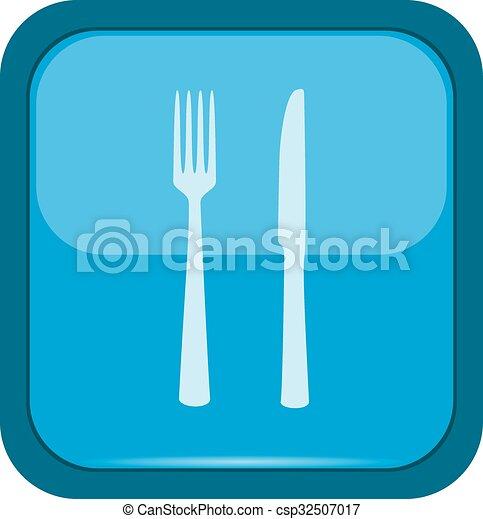 forchetta, coltello - csp32507017
