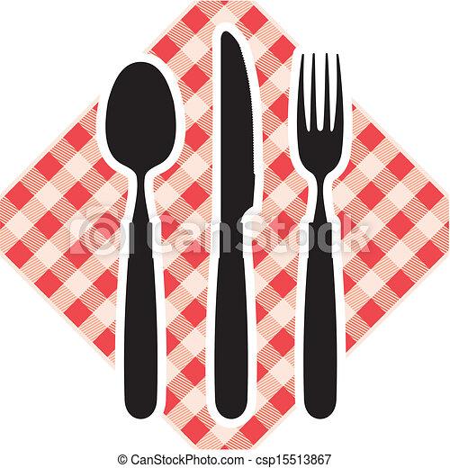 forchetta, cucchiaio, coltello - csp15513867