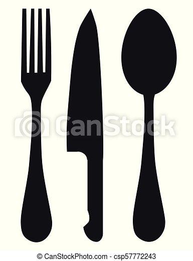 forchetta, cucchiaio, coltello - csp57772243