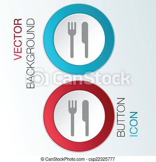 forchetta, knife. - csp22325777