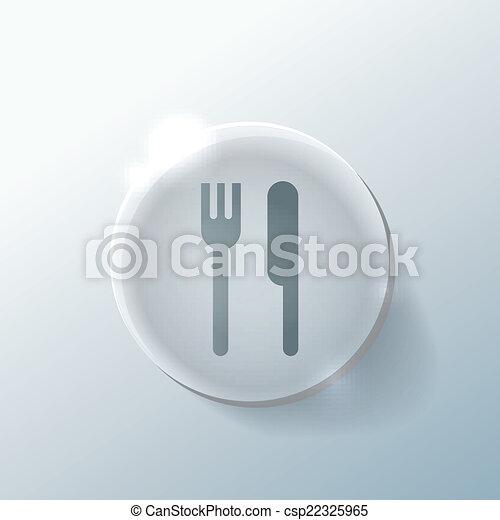 forchetta, knife. - csp22325965