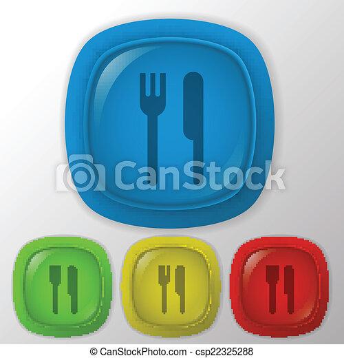 forchetta, knife. - csp22325288