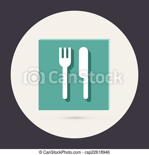 forchetta, knife. - csp22618946