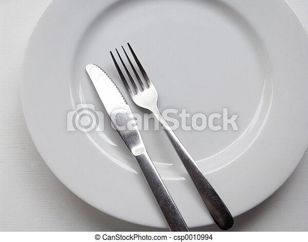 forchetta, piastra, coltello - csp0010994