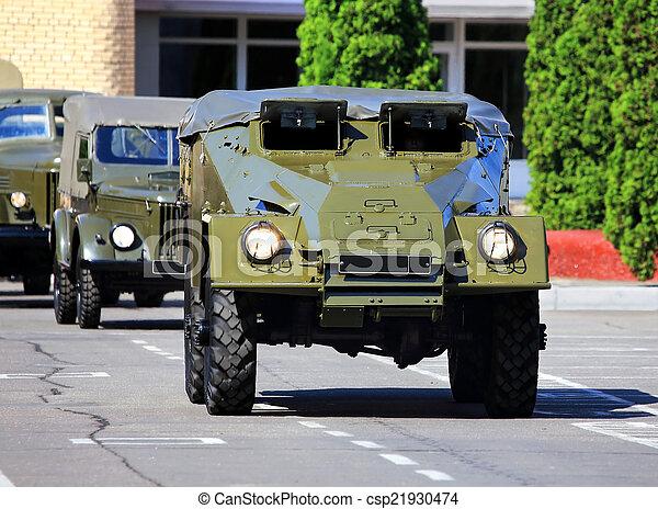 fordon, pansrad, transport - csp21930474