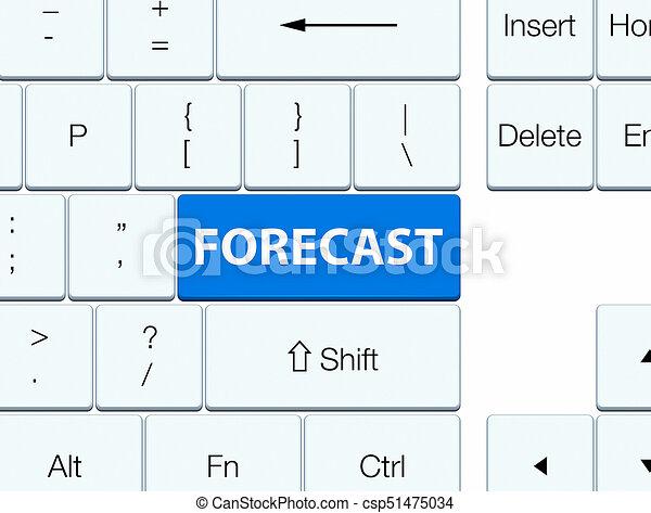 Forecast blue keyboard button - csp51475034