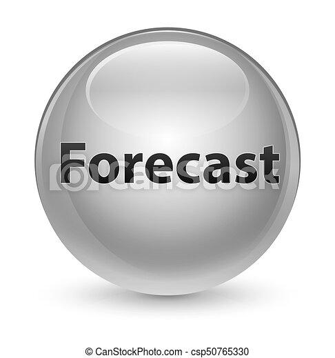 Forecast glassy white round button - csp50765330