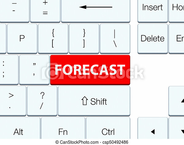 Forecast red keyboard button - csp50492486