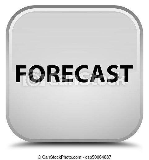 Forecast special white square button - csp50064887