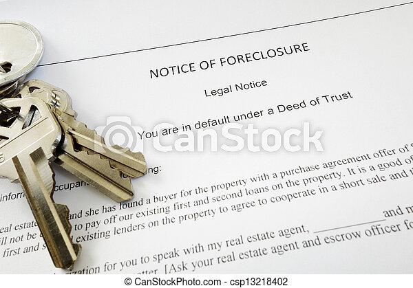 foreclosure keys - csp13218402