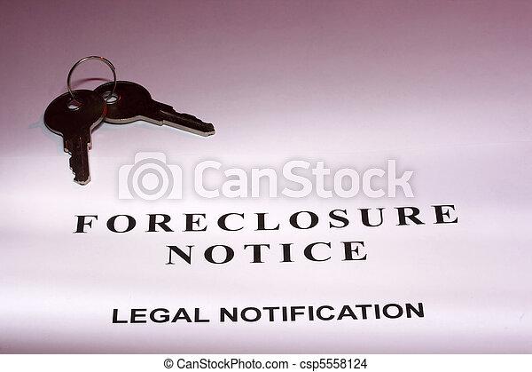 Foreclosure Notice - csp5558124