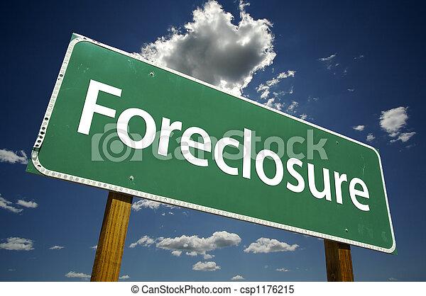 Foreclosure Road Sign - csp1176215