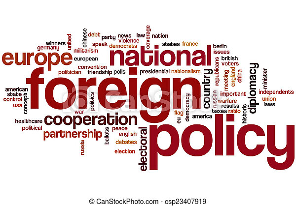 Foreign policy word cloud - csp23407919