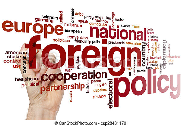 Foreign policy word cloud - csp28481170